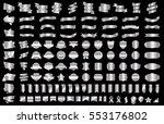 silver banner ribbon label... | Shutterstock .eps vector #553176802
