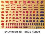 banner ribbon label red vector... | Shutterstock .eps vector #553176805