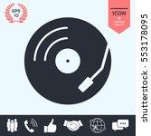 vinyl record turntable icon   Shutterstock .eps vector #553178095