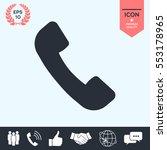 telephone handset symbol ... | Shutterstock .eps vector #553178965