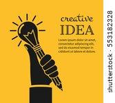 creative ideas concept. hand... | Shutterstock .eps vector #553182328