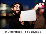 young french artist with a box | Shutterstock . vector #553182886