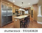 kitchen in upscale home with... | Shutterstock . vector #553183828