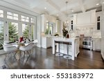 kitchen in luxury home with... | Shutterstock . vector #553183972