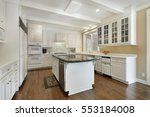 kitchen in upscale home with... | Shutterstock . vector #553184008