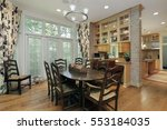 eating area in luxury home with ...   Shutterstock . vector #553184035