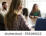 people meeting seminar office... | Shutterstock . vector #553184212