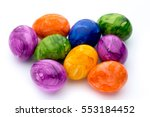 Bright  Colorful Easter Eggs I...