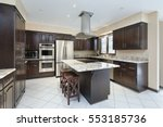 kitchen in suburban home with... | Shutterstock . vector #553185736