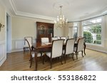dining room in luxury home with ...   Shutterstock . vector #553186822