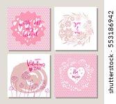 happy valentines day. set of...   Shutterstock .eps vector #553186942