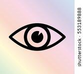 eye    black vector icon
