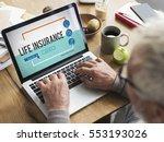 insurance life reimbursement... | Shutterstock . vector #553193026