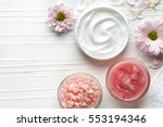 cosmetic cream container  body... | Shutterstock . vector #553194346