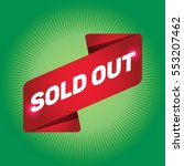 sold out arrow tag sign. | Shutterstock .eps vector #553207462