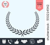 laurel wreath. element for your ... | Shutterstock .eps vector #553214542
