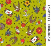 seamless doodle pattern.... | Shutterstock .eps vector #553215475