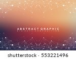 big data complex. graphic... | Shutterstock .eps vector #553221496