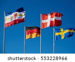 waving flags of baltic   Shutterstock . vector #553228966