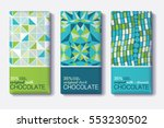 vector set of chocolate bar... | Shutterstock .eps vector #553230502