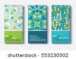 vector set of chocolate bar...   Shutterstock .eps vector #553230502