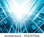 panoramic and perspective wide... | Shutterstock . vector #553237036