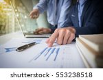 teamwork process  businessmen... | Shutterstock . vector #553238518