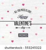 happy valentines day card ... | Shutterstock .eps vector #553245322