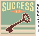 success poster motivation in... | Shutterstock .eps vector #553256542