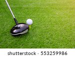 golf club and ball hit swing...   Shutterstock . vector #553259986