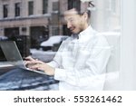 young businessman or student... | Shutterstock . vector #553261462