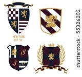 crest badge | Shutterstock .eps vector #55326202