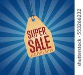 super sale discount sticker...   Shutterstock .eps vector #553266232