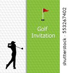 golf tournament invitation... | Shutterstock .eps vector #553267402