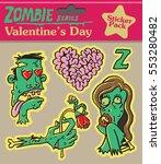 zombie series vintage nostalgia ... | Shutterstock .eps vector #553280482