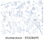 holiday set in the form of a... | Shutterstock .eps vector #55328695