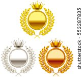 crown. gold medal. silver medal.... | Shutterstock .eps vector #553287835