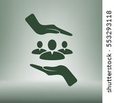 group of people and hands icon | Shutterstock .eps vector #553293118