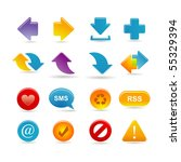 arrows icon set | Shutterstock .eps vector #55329394