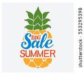 summer sale badge vector. | Shutterstock .eps vector #553295398