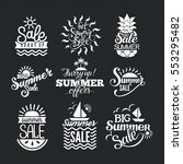 summer sale badge vector. | Shutterstock .eps vector #553295482