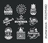 summer sale badge vector. | Shutterstock .eps vector #553295482