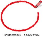 a red ellipsoidal frame drawn... | Shutterstock .eps vector #553295902