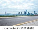 modern office buildings in... | Shutterstock . vector #553298902