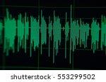 radio sound wave music wave | Shutterstock . vector #553299502