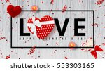 web banner for valentine's day. ... | Shutterstock .eps vector #553303165
