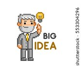 vector pixel art businessman.... | Shutterstock .eps vector #553304296
