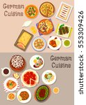 german cuisine icon set with... | Shutterstock .eps vector #553309426