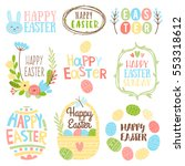 Happy Easter Bright Design...