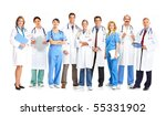smiling medical doctors with... | Shutterstock . vector #55331902